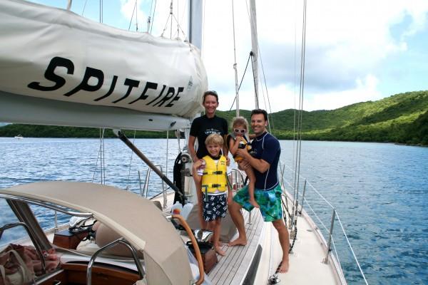 Enjoying a sailing and snorkeling trip arranged through Caneel Bay