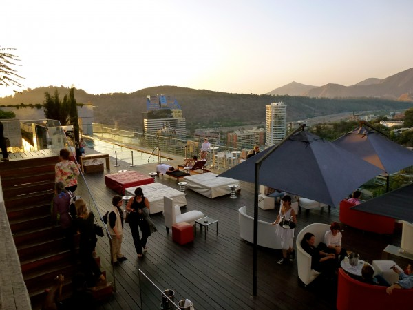 Outdoor lounge at the W Santiago
