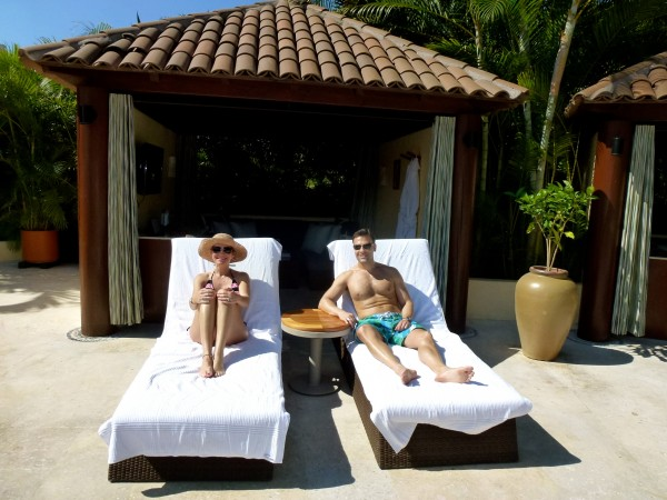 Cabana at adults only pool