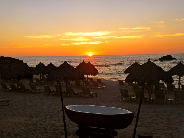 A typical evening at the Four Seasons Punta Mita