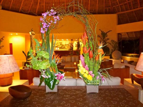 Stunning lobby at Four Seasons Punta Mita