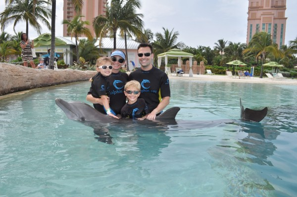 Shallow water excursion at Dolphin Cay, Atlantis