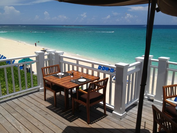 Table with a view at Dune, One & Only Ocean Club
