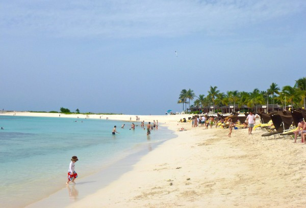 Private beach area for Reef and Cove guests only