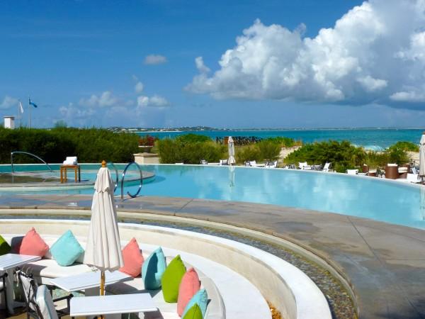 Oceanfront infinity pool at Regent Palms