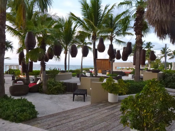 Oceanfront lounge at Grace Bay Club