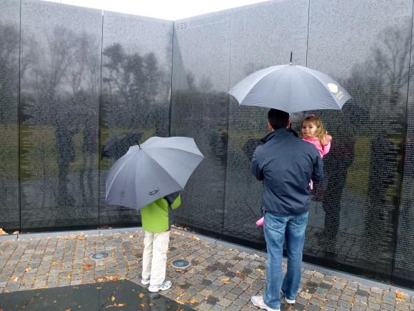 At the Vietnam Wall