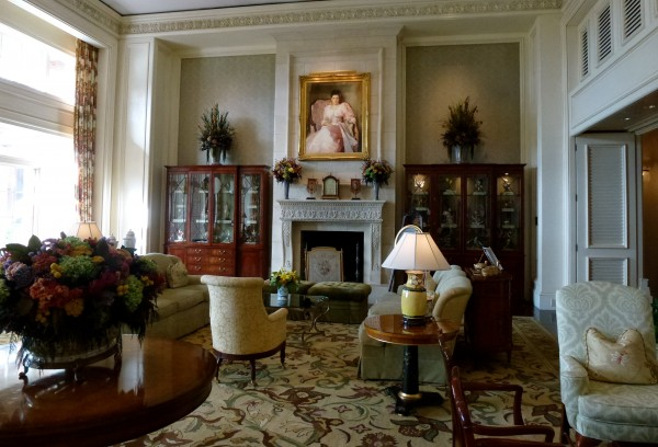 Cozy lobby area at The Sanctuary