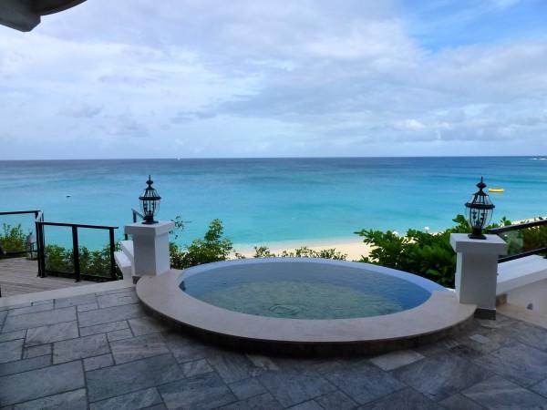 View from the lobby at La Samanna