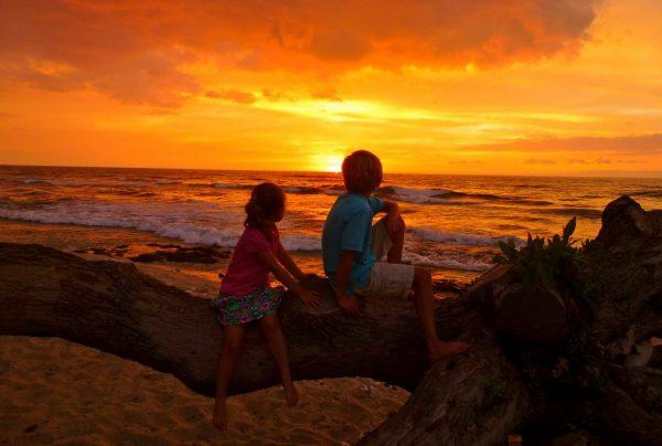 Sunset at Hulalai, Hawaii