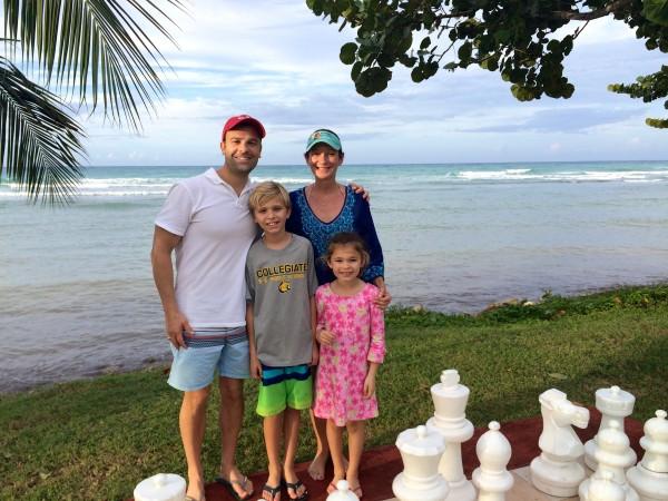 Big chess board at Half Moon
