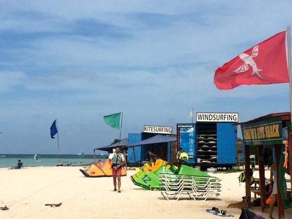 Aruba wind-surfing and kite-surfing