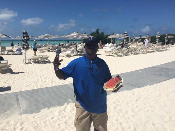 Ritz-Carlton Aruba beach attendant