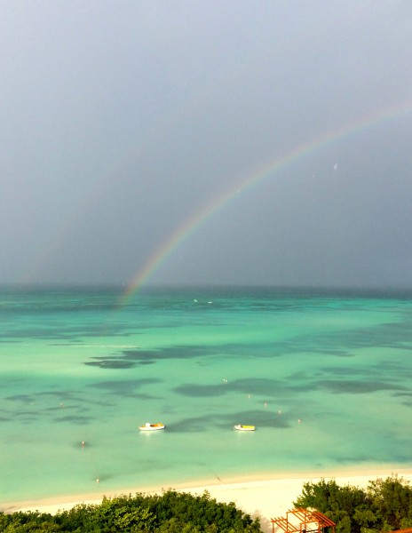 Rainbows are frequent sitings on Aruba. I took this photo from my balcony