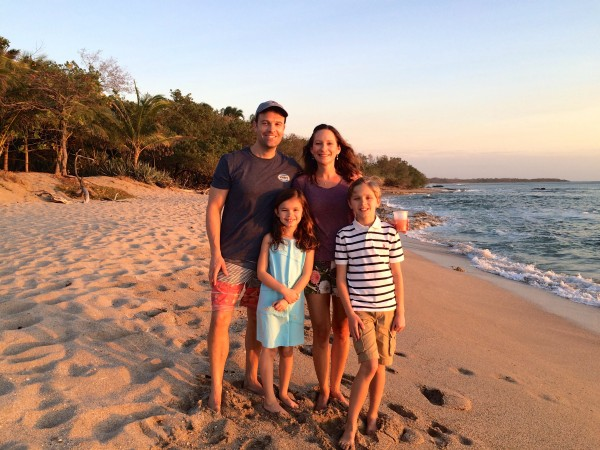 Cala Luna beach at sunset
