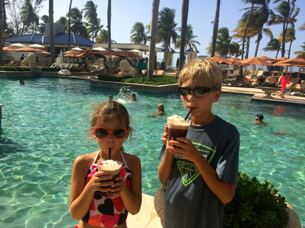 Ritz Carlton San Juan milkshakes for children