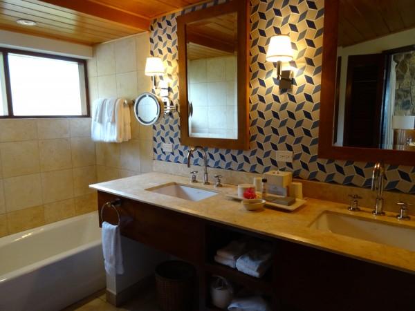 Ocean Cottage bathroom, Little Dix Bay