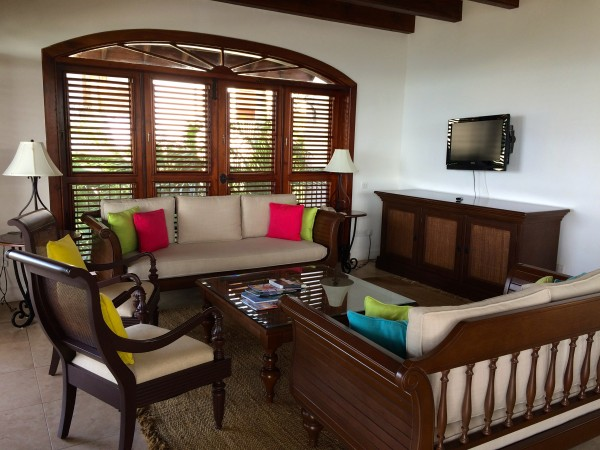 Sitting area in a suite at Cap Maison, St. Lucia
