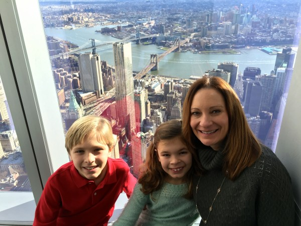 At the top of the Freedom Tower