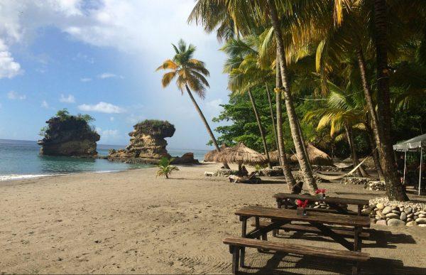 Anse Mamin beach at Jade Mountain