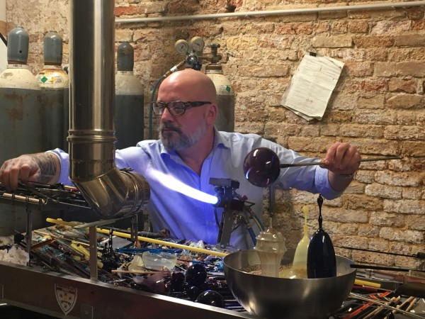 Glass blowing in Venice