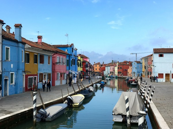The multi-colored houses of Burano
