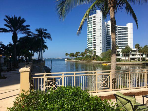 On the bay at the Ritz Carlton Sarasota
