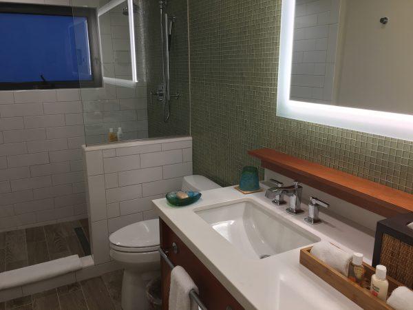Renovated Premium Beachfront bathroom at Caneel Bay