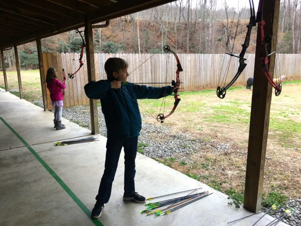 Archery is one of many activities offered for guests of Primland Resort, Virginia