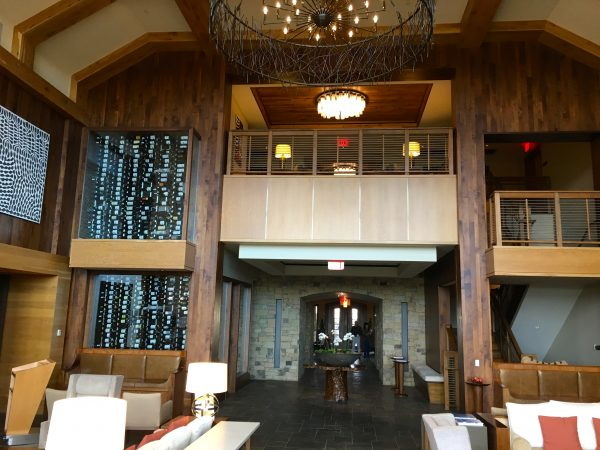 View of the lobby at Primland