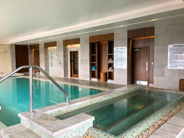 The indoor pool at Primland