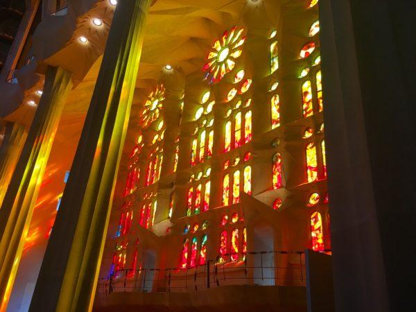 Sagrada Familia stained glass window