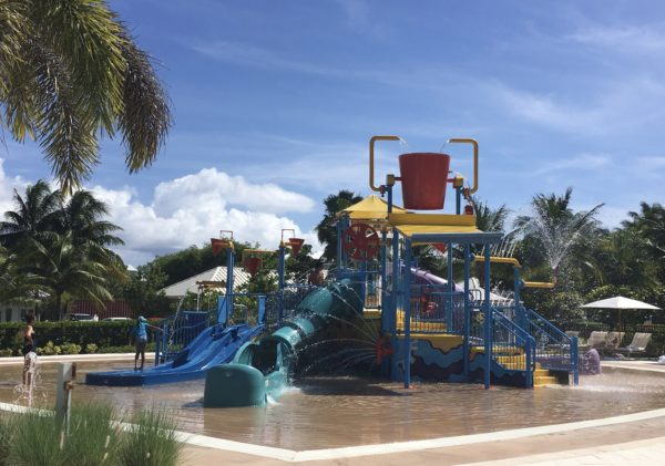 Water park area at the Ritz Carlton Grand Cayman