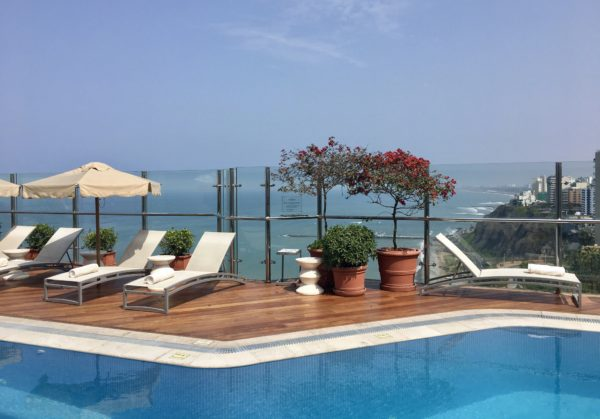 The rooftop pool at Belmond Miraflores Park