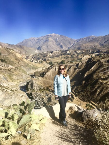 At the Colca Canyon in the Colca Valley, Peru