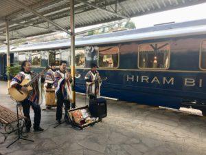 Belmond Hiram Bingham guests get to enjoy live entertainment before boarding
