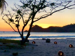 A sunset to remember at Morgan's Rock, Nicaragua