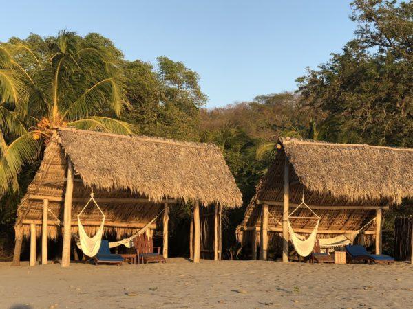 Beach huts at Morgan's Rock, Nicaragua