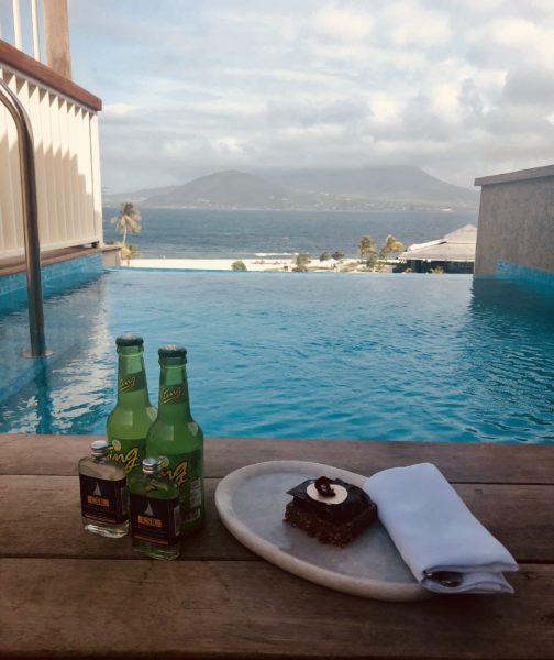 Plunge pool in a Nevis Peak Suite