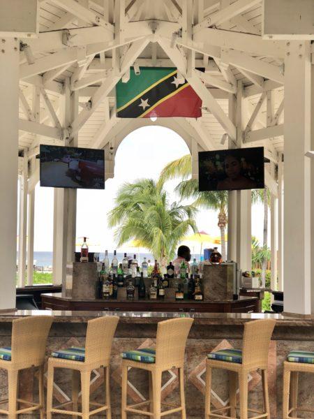Four Seasons Nevis bar