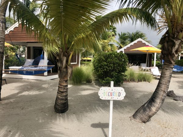 Private beach cabana at the Four Seasons Nevis