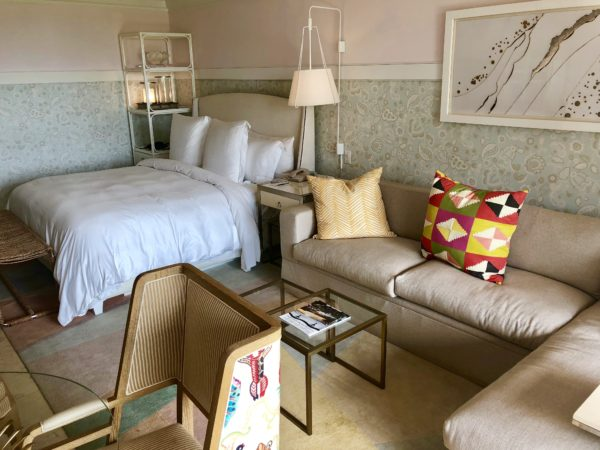 Renovated model room at the Four Seasons Nevis