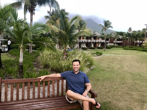 First night at the Four Seasons Nevis