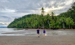 Sunset walk at Playa Cativo, Costa Rica